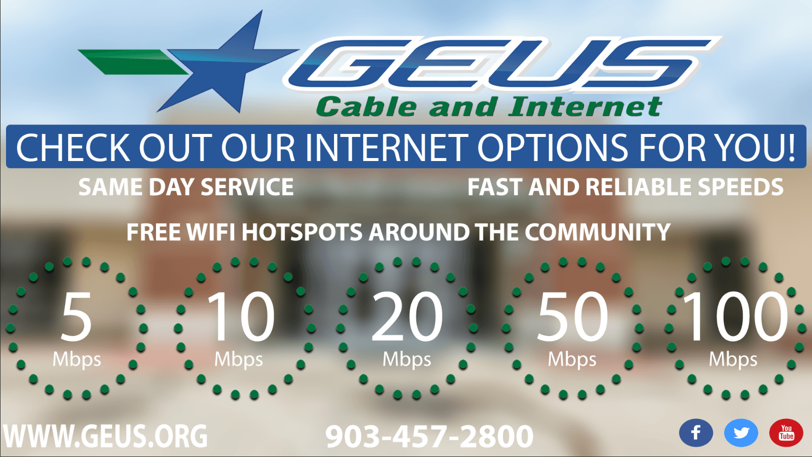 GEUS Internet Package Options