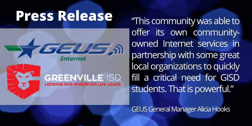 GEUS INTERNET CONNECTING THE COMMUNITY