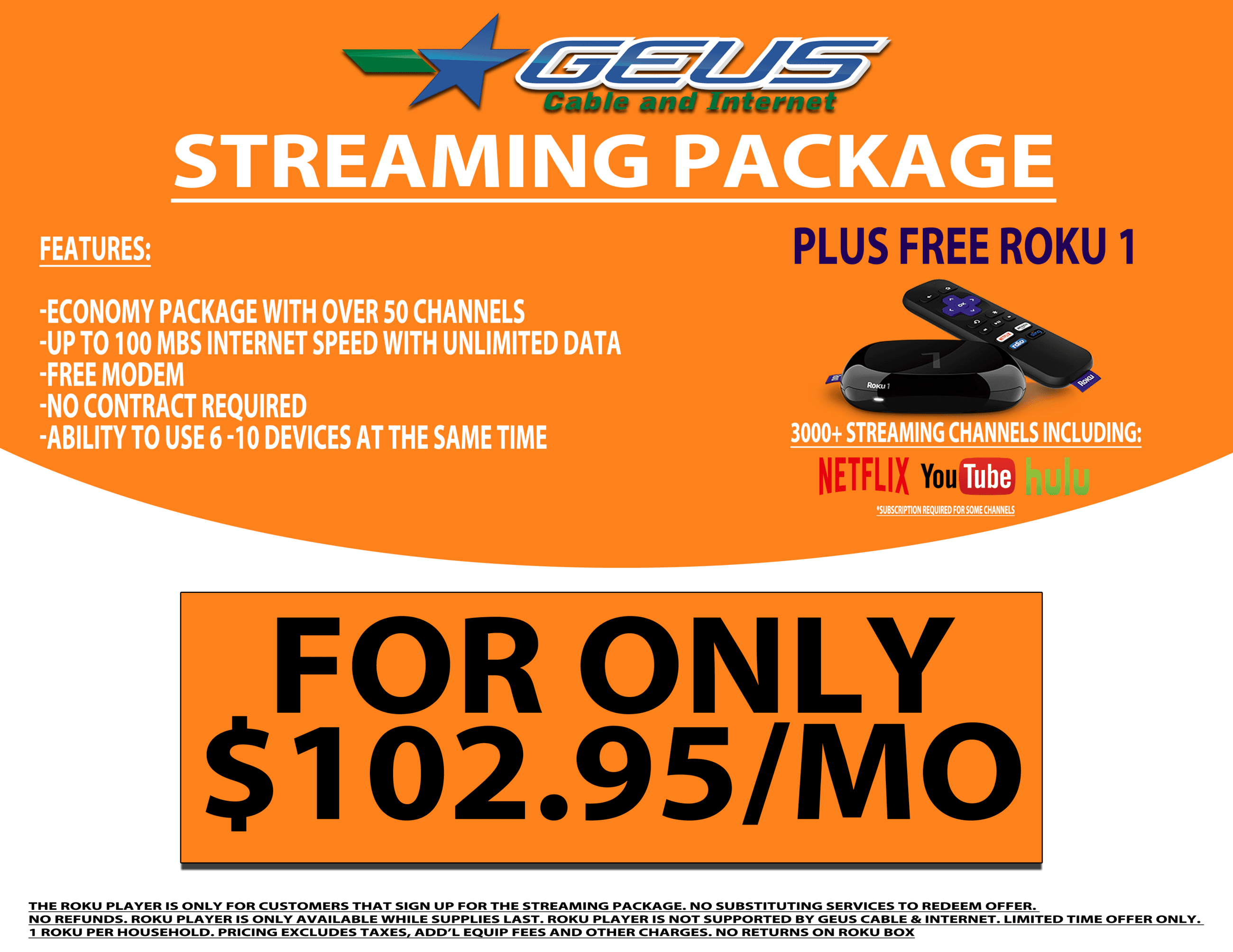 GEUS Streaming Package Back