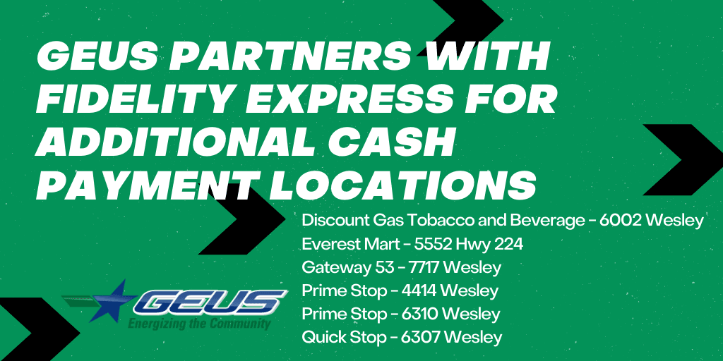 GEUS partners with Fidelity Express for Additional Cash Payment Locations